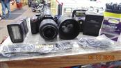 NIKON D3200 24.2MP DSLR CAMERA WITH 18-55MM LENS, 55-200MM LENS,CHARGER & CASE
